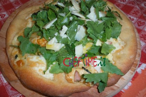 Pizza con impasto lievito naturale