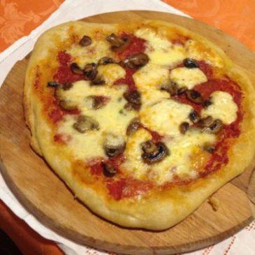 Pizza ai funghi e tartufo