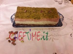 Mattonella di cheesecake bicolore