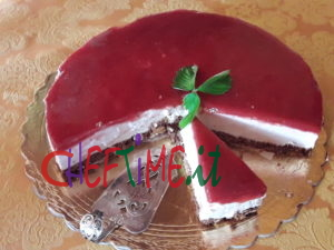 Cheesecake allo yogurt di fragole